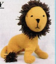 Cute old fashioned lion toy