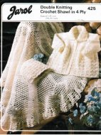 Lovely crochet shawl & knit cardigan & hat