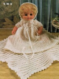 Lovely baby doll christening set