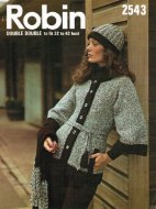 Chunky 70's belted cardigan & hat