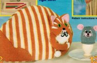 Fun Cat & Mouse tea and egg cosies