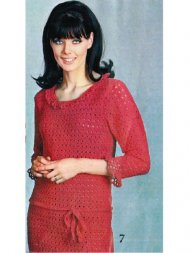 3/4 sleeve lovely crochet summer dress M-L