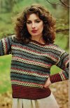 Very attractive & striking short fair isle jumper