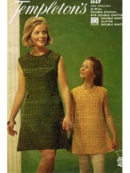 Mother & daughter crochet lace summers tunic style dress