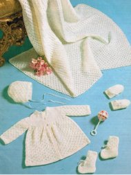 Pretty baby shawl, cardigan & accessories set