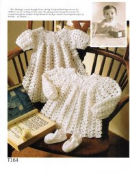 Exquisite baby dress & matinee coat crochet set