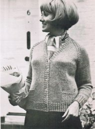 Raglan cardigan from 1970 up to 46""
