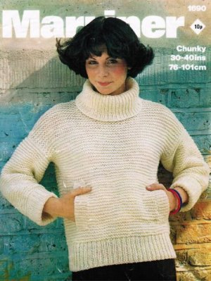 "Quick & easy knit chunky ""Sloppy Joe"" jumper"