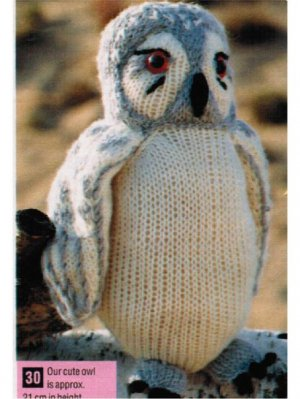 Snowy Owl Knitting Pattern : Snowy owl toy knitting pattern [576] - ?1.75 : Patterns ...