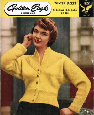Superb 1950's chunky cardigan jacket