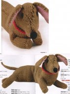 Cuddly dachshund dog toy