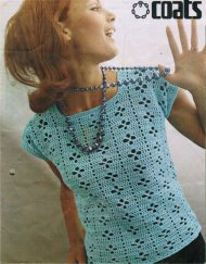 Simple square neck crochet summer top