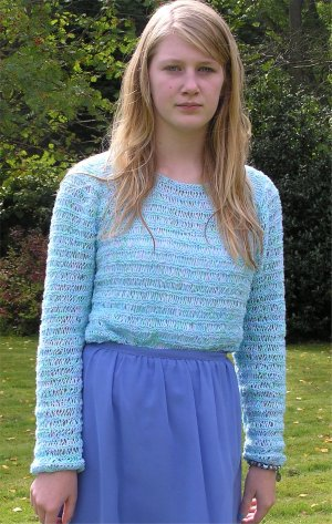 Pattern no. 875 openwork jumper