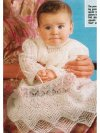 "Superfine ""cobweb"" shetland christening dress or robe"