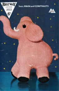 Charming pink elephant toy