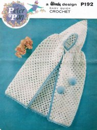 Crochet baby christening carrying cape