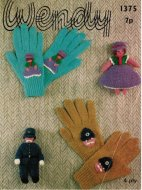 Boy's & girl's character gloves and matching toys