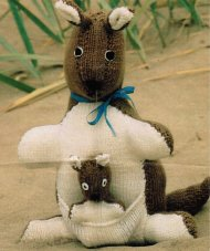 Delightful kangaroo and joey toys