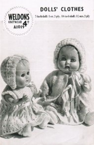 "Baby doll's set for 7"" and 10"" dolls"