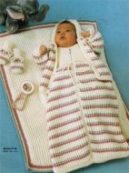 Snuggly baby sleeping bag, blanket & jacket set