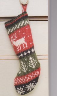 Cute reindeer baby Christmas stocking