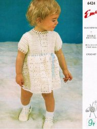 Sweet crochet toddler's summer dress