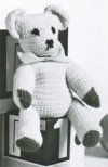 Traditional crochet teddy bear