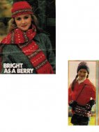 Fair isle hat scarf & girl's bag hat & gloves