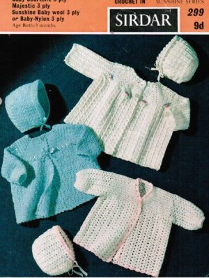 3 crochet baby cardigan sets