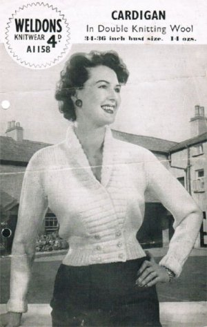Gorgeous cropped cardigan from the 50's