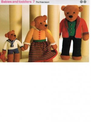 3 bears family teddy toys