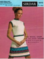Short Mexican patterned fair isle summer dress