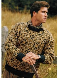 Celtic inspired men's jacquard jumper