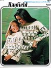 Fun llama pattern aran tunic for girls and their mums