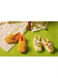 Easter duckling & kitten baby slippers