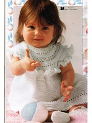 Very sweet fine crochet baby dress