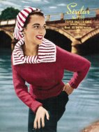 Lovely large collar jumper from the 50's, plus hat