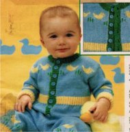 Baby boy or girl duckling pattern jumpsuit