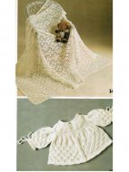 Crochet christening shawl & knitted matinee coat