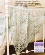 Heirloom crochet throw in laceweight yarn
