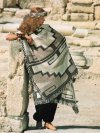 Geometric Andean / Navajo patterned blanket wrap
