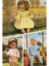 3 baby dolls' outfits