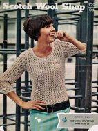 Easy lace pattern summer jumper / top