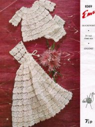 Gorgeous crochet baby cloak angel top & pants