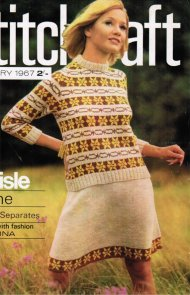 1967 fair isle short skirt & jumper set (2)