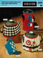 Tea cosy and coffee pot- 3 cosies to knit and crochet