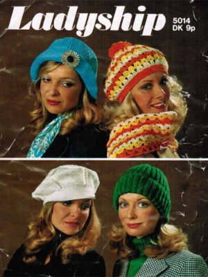 70's knit & crochet hats scarves
