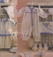 Embroidered baby set, jumpers, babygro, jacket