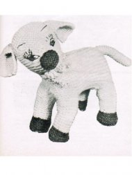 Delightful Easter lamb toy from the 50's
