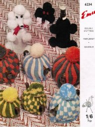 2 tea cosies & poodle toy or bottle cover